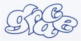 KAWA-LOGO ステッカー マルロゴTYPE ラメVER ブルー