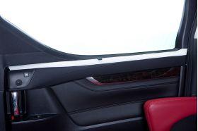 アクセントラインセット 30系ALPHARD&VELLFIRE 後部座席ドア ホワイト×ブラック