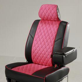 アクセント:ピンク  ベース:ブラック ステッチ:ピンク