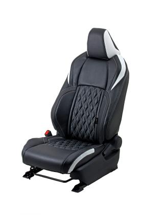 C-HR シートカバー ダイヤキルト ブラック×ホワイト